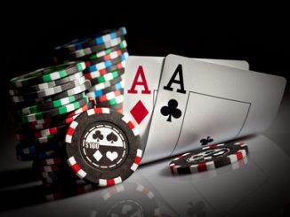 Photo gambling chips on the dark